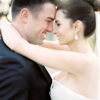 white, black, Bride, Groom, Portrait, Kiss, And, Meagan david