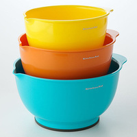 Registry, yellow, orange, blue, Kohl's, Bowls, Mixing