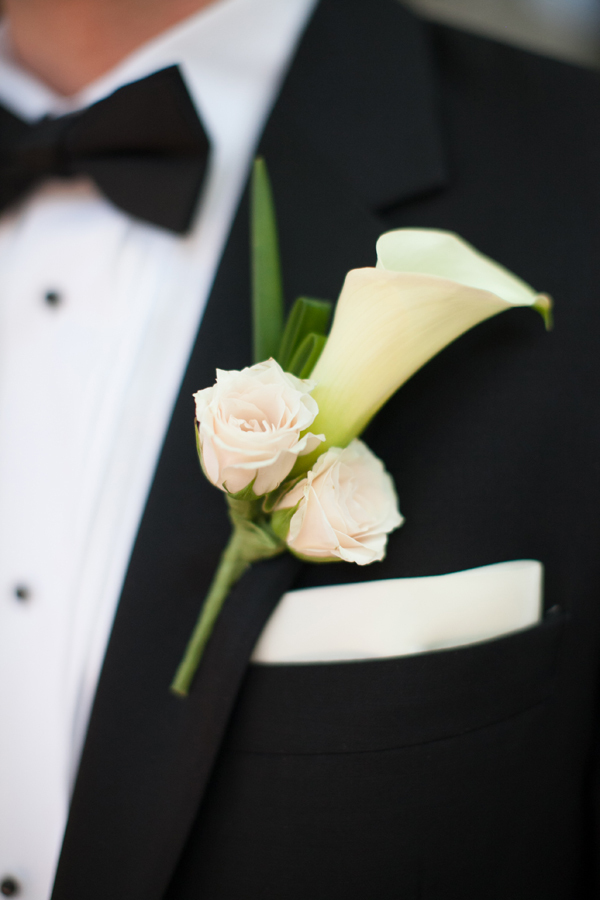 white, black, Calla, Boutonniere, Lilly, Carly darion