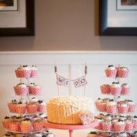 Cakes, white, pink, blue, cake, Cupcakes, Dessert, Wedding, Bar, Coral, Navy, Ruffle, Heather david