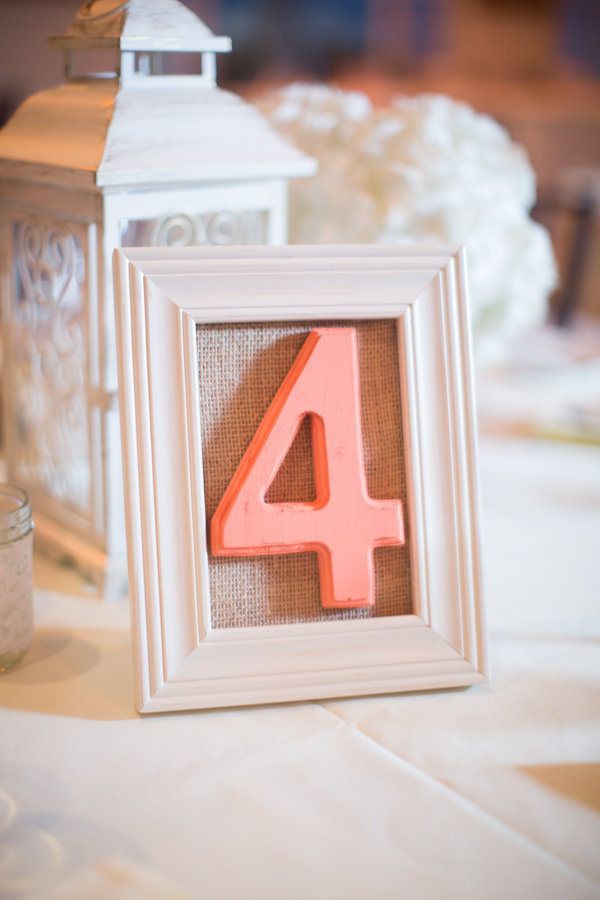 Reception, Flowers & Decor, Decor, ivory, pink, Rustic, Classic, Rustic Wedding Flowers & Decor, Table, Burlap, Number, Frame, Heather david
