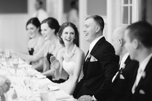 Reception, Flowers & Decor, white, black, Bride, Groom, And, Dinner, Laughter, Love, Heather david