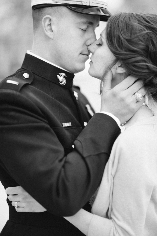 Classic, Portrait, Kiss, Uniform, Navy, Preppy, Academy, Annapolis, Naval, Heather david