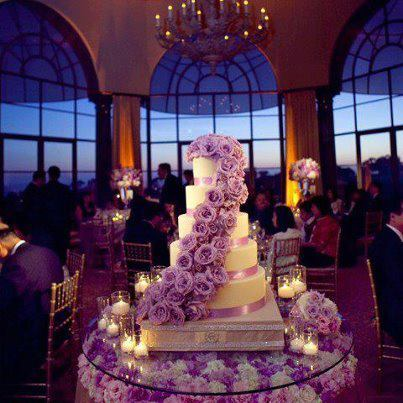 Reception, Flowers & Decor, Cakes, purple, cake, Flowers