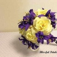 Flowers & Decor, yellow, purple, Flowers