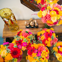 Flowers & Decor, yellow, orange, pink, Summer, Flowers, Bouquets, Hot, Katie jacob