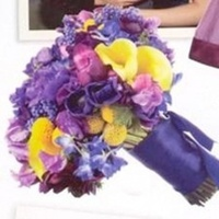 Flowers & Decor, white, yellow, purple, Flowers