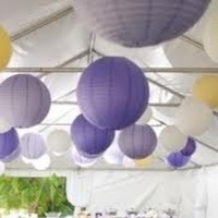 Reception, Flowers & Decor, yellow, purple