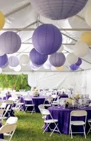 Reception, Flowers & Decor, yellow, purple