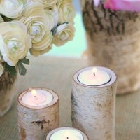 Ceremony, Flowers & Decor, white, gold, Ceremony Flowers, Centerpiece, Holder, Birch, Candel
