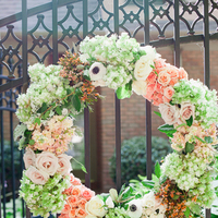 pink, green, Spring, Classic, Peach, Floral, Wreath, Mint, Preppy, Brittany jason