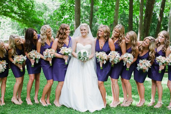 Bridesmaids, Bridesmaids Dresses, Fashion, purple, Outdoor, Southern, Wedding, Navy, Preppy, Brittany jason, Nautical/Preppy Wedding Dresses