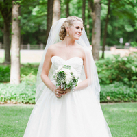Veils, Fashion, white, green, Summer, Classic, Bride, Southern, Veil, Strapless, Strapless Wedding Dresses, Watters, Preppy, Wtoo, Brittany jason, Classic Wedding Dresses, Summer Wedding Dresses, Nautical/Preppy Wedding Dresses