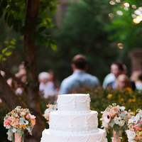 Flowers & Decor, Cakes, white, pink, cake, Summer, Classic, Classic Wedding Cakes, Outdoor, Flowers, Classic Wedding Flowers & Decor, Wedding, Backyard, Brittany jason