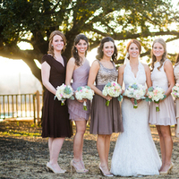 ivory, brown, Bride, Bridesmaid, Lavender, Taupe, Mismatched, Victoria john