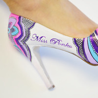 Shoes, Fashion, white, pink, purple