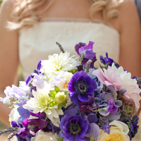 Flowers & Decor, white, purple, silver, Rustic, Flowers