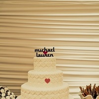 Cakes, white, cake, Wedding, Simple, Heart, Lauren mike