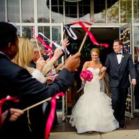 pink, Wedding, Church, Michigan, Streamers, Lauren mike