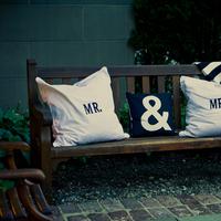 Flowers & Decor, Decor, white, black, Wedding, Pillow, Mr, Mrs, Ampersand, Lauren mike