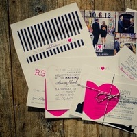 Stationery, white, pink, black, invitation, Invitations, York, New, Nyc, Graphic, Lauren mike