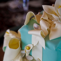 Cakes, white, blue, silver, cake, Wedding, Tiffany, By, Box, Cakework
