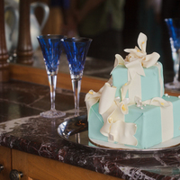 Cakes, white, yellow, blue, silver, cake, Wedding, Tiffany, By, Box, Cakework