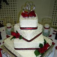 Cakes, red, black, silver, cake