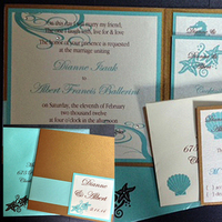 Stationery, blue, gold, Invitations