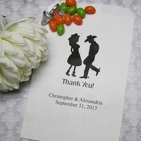 Reception, Flowers & Decor, Favors & Gifts, white, black, favor, Favors, Wedding, Bags, Candy, Buffet, Country