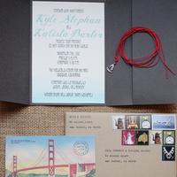 DIY, Stationery, brown, invitation, Invitations, Map, Wedding, California, Creative, San, Script, Kalista kyle, Fran