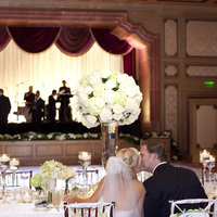 Reception, Flowers & Decor, ivory, green, Centerpieces, Classic, Candles, Centerpiece, Kiss, Elegant, Tabletop, Candlelight, Sophisticated, Lauren doug