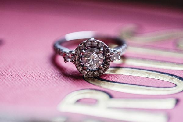 pink, Vintage, Ring, Engagement, Diamond, Circle, Kalista kyle