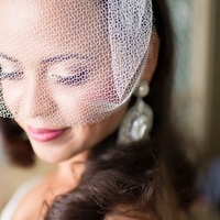 Beauty, Makeup, Bride, Birdcage veil, Eliza don, Red lipstick