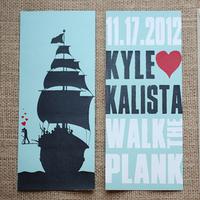 Stationery, blue, invitation, Invitations, Wedding, Boat, Navy, Graphic, Kalista kyle
