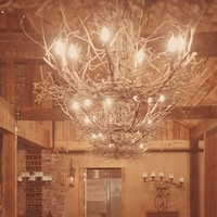 Reception, Flowers & Decor, Rustic, Southern, Rustic Wedding Flowers & Decor, Seating, Chandeliers, Emily ben