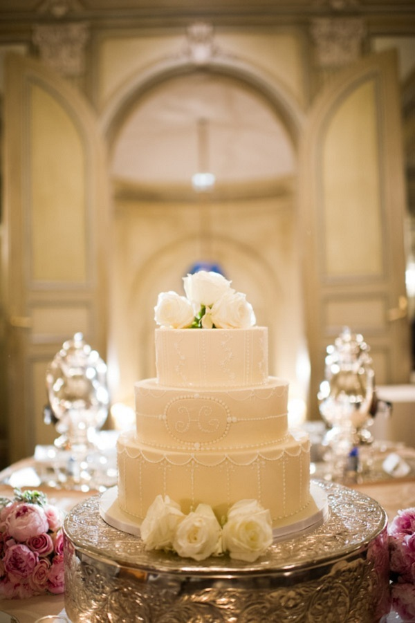 Reception, Flowers & Decor, Cakes, ivory, cake, Classic, Classic Wedding Cakes, Elegant, Eliza don