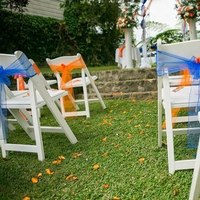 Ceremony, Flowers & Decor, white, orange, blue, Inspiration board