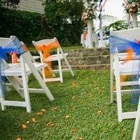 Ceremony, Flowers & Decor, white, orange, blue, Inspiration board