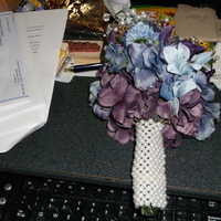 Flowers & Decor, purple, blue, silver, Flowers