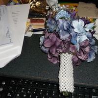 Flowers & Decor, purple, blue, silver, Flowers