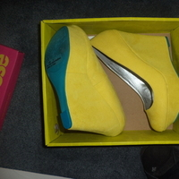 Shoes, Fashion, yellow, blue