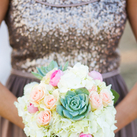 orange, pink, green, brown, Bouquet, Bridesmaid, Sequin, Neon, Victoria john