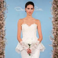 Wedding Dresses, Fashion, yellow, dress, Spring, Gown, Wedding, Bridal, Dresses, La, De, Show, Renta, Runway, Oscar, 2014, Spring Wedding Dresses