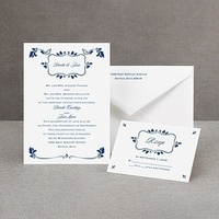 Stationery, white, red, blue, invitation, Invitations, Rose, Claret, Crimson