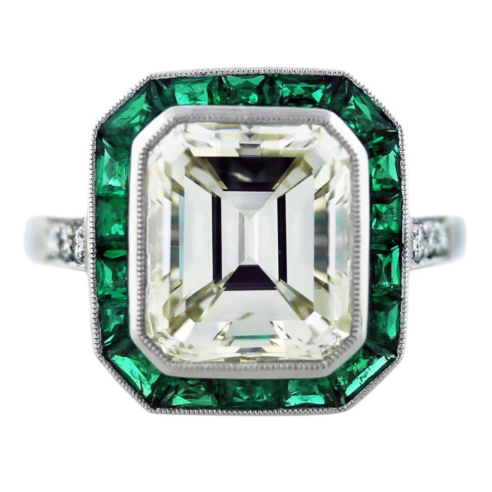 Jewelry, white, green, Engagement Rings, Emerald Cut Engagement Ring, Ring, Engagement, Diamond, Cut, Emerald