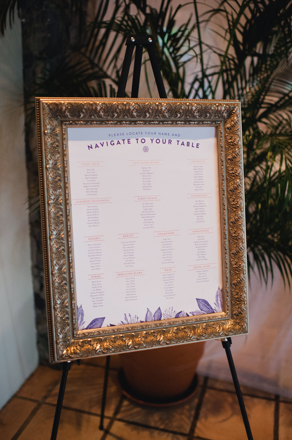 gold, Beach, Wedding, Seating, Chart, Frame, Amy kenn