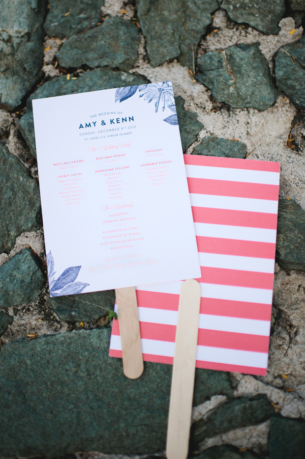 Ceremony, Flowers & Decor, Stationery, pink, Beach, Ceremony Programs, Beach Wedding Flowers & Decor, Programs, Wedding, Fan, Amy kenn