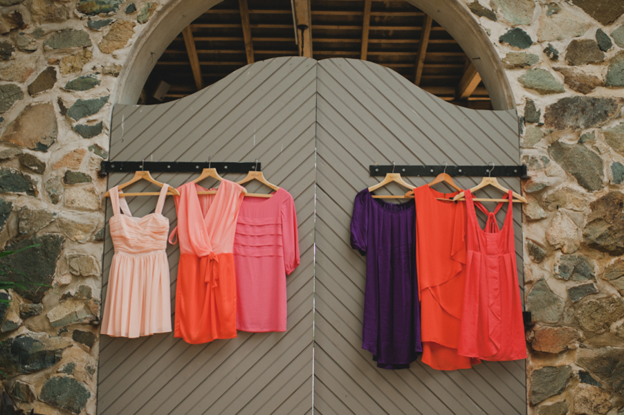 Beach Wedding Dresses, Fashion, orange, Beach, Wedding, Bridesmaid, Dresses, Coral, Amy kenn, Mis-matched