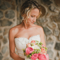 pink, Beach, Bouquet, Wedding, Strapless, Amy kenn